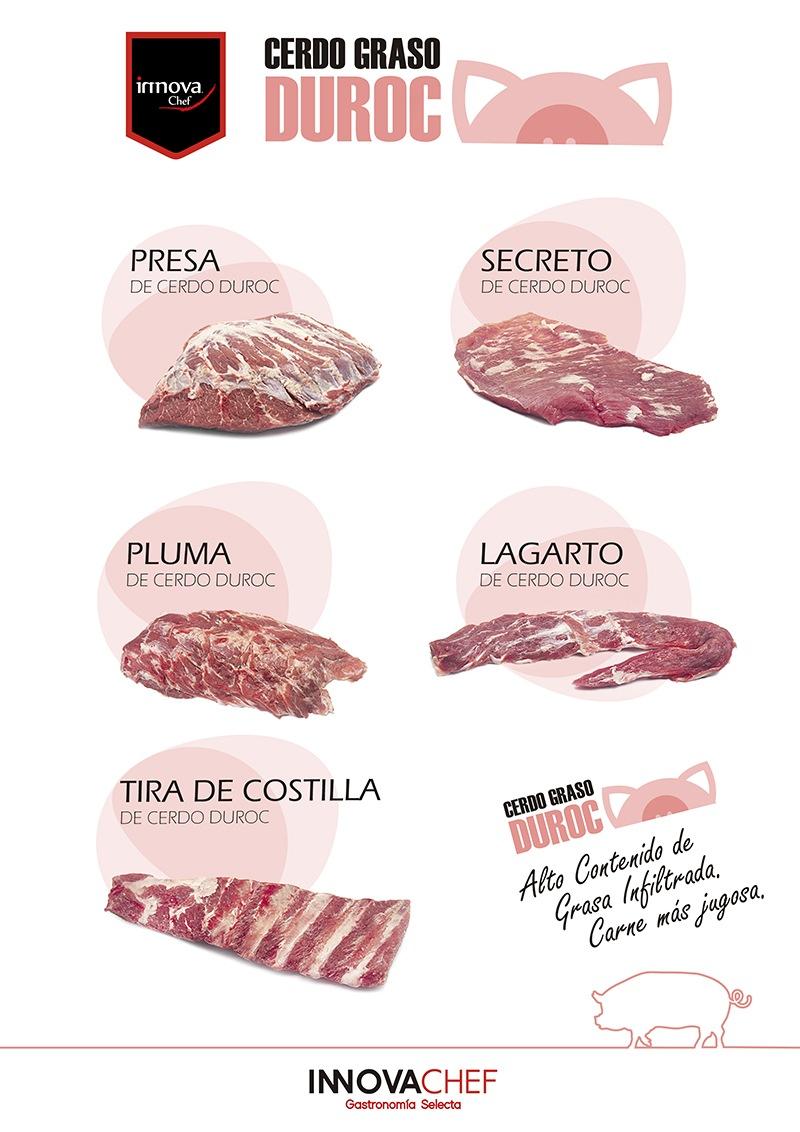 Carnes de cerdo Duroc