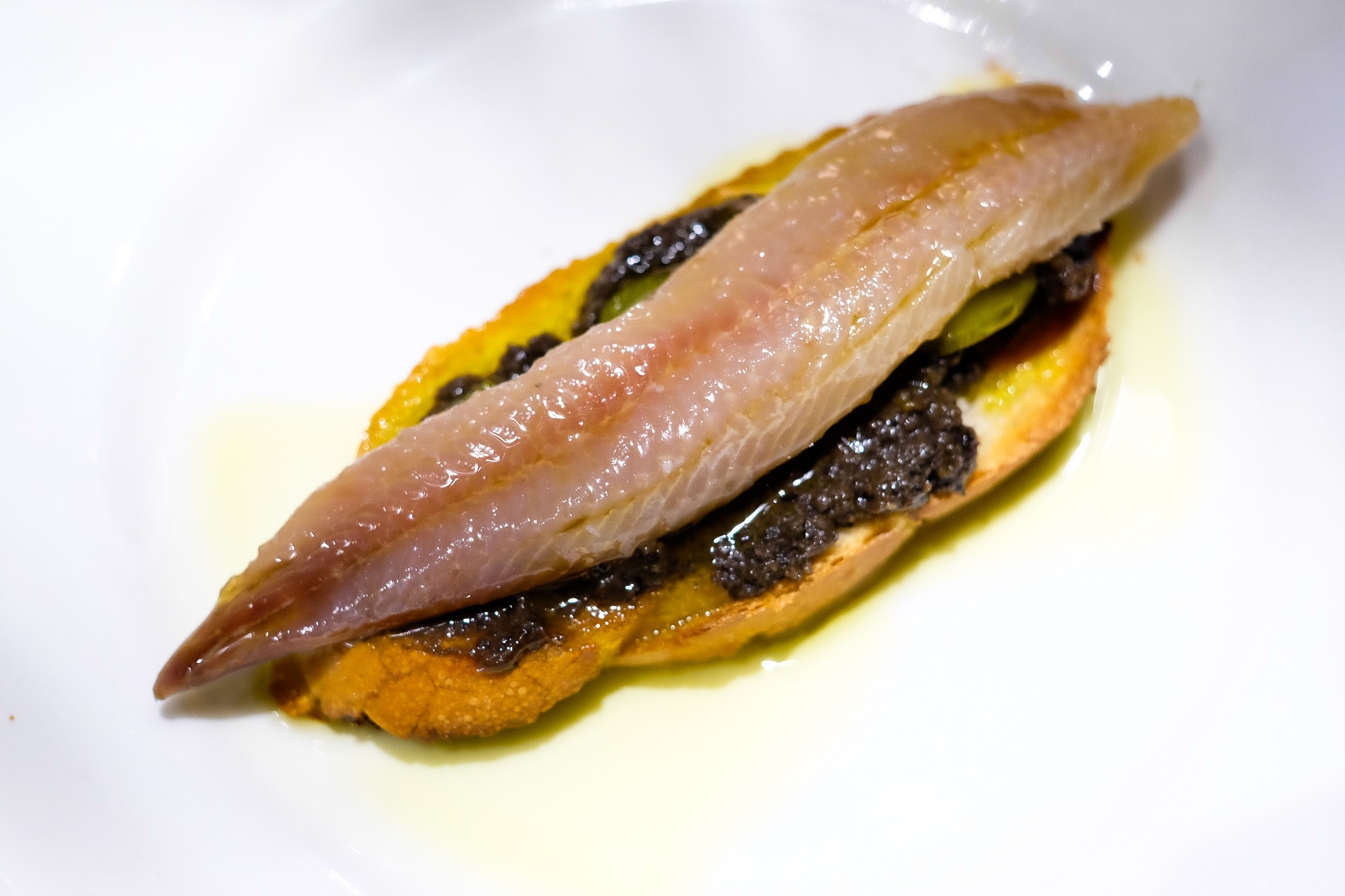 Tapa de sardina ahumada