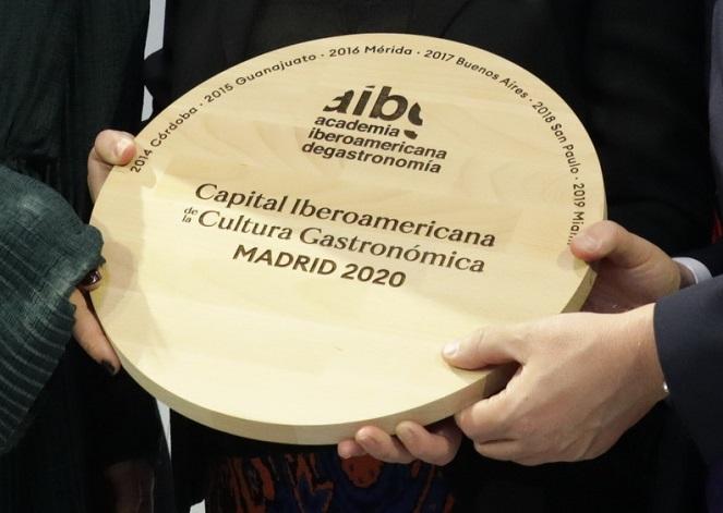Madrid Capital Iberoamericana de la Cultura Gastronómica